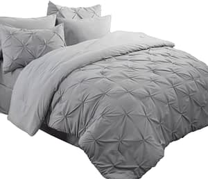 Bedsure King Size Comforter Set Bed in A Bag Grey 8 Pieces