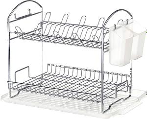 Simple Houseware 2-Tier Dish Rack with Drainboard