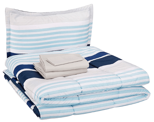 AmazonBasics Twin Bed-in-a-Bag Bedding Set