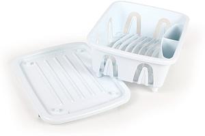 14. Camco Translucent Mini Dish Drainer Dish racks