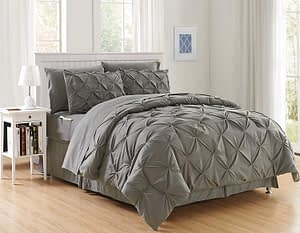 Elegant Comfort 8-Piece Bed-in-a-Bag Comforter Set