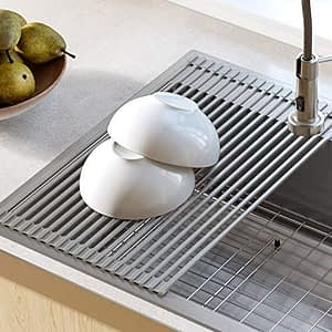 Kraus Over the Sink Multipurpose Roll-Up Dish Drying Rack