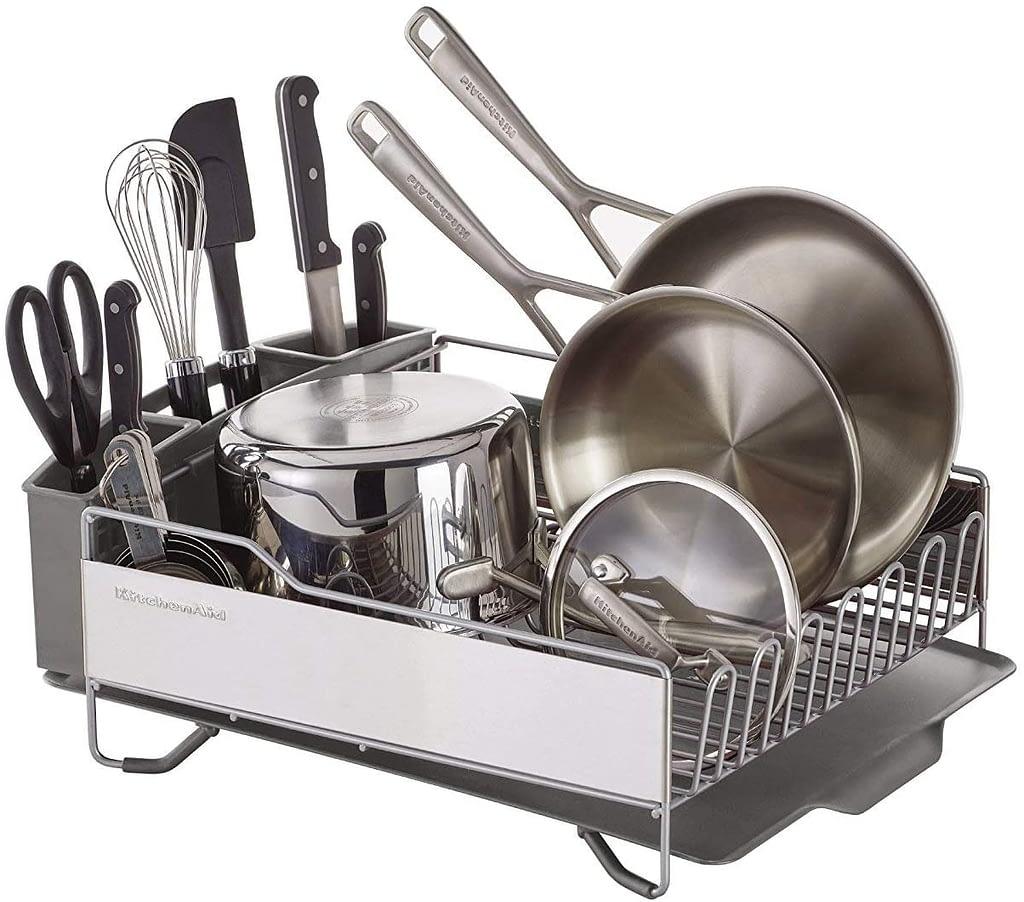 KitchenAid kns896bxgra full size crockery basket, light gray