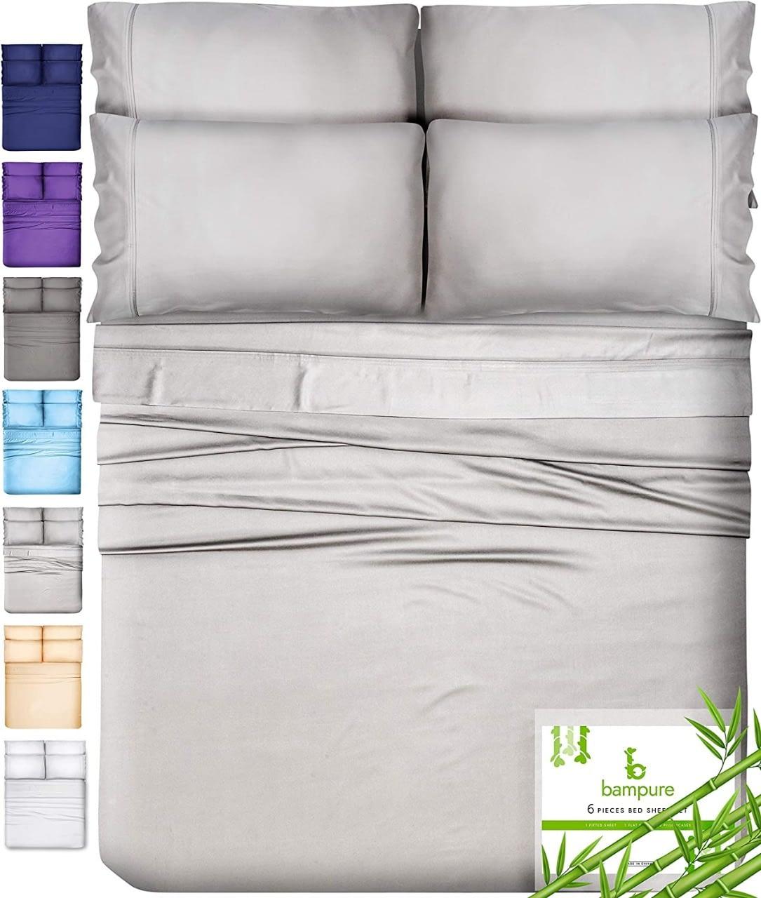 BAMPURE 100% Organic Bamboo Sheets