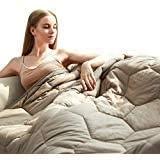 YEMYHOM 100% Cotton Weighted Blanket