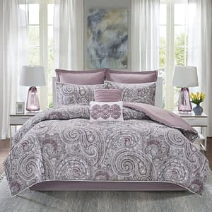 Comfort Spaces Kashmir 8 Piece Comforter Set California King