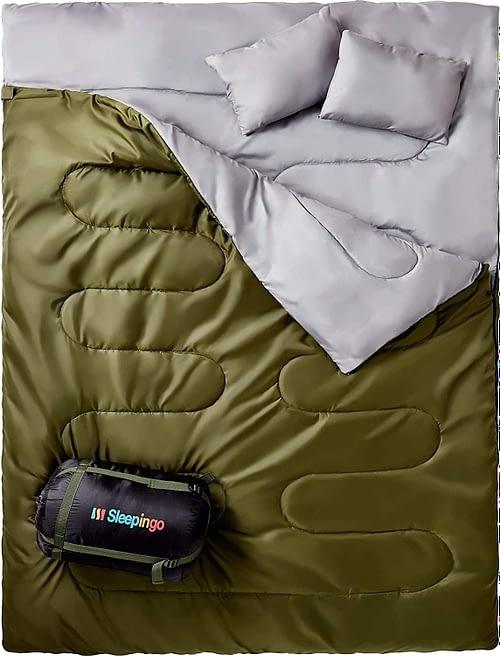 1. Sleepingo Double Sleeping Bag for Backpacking