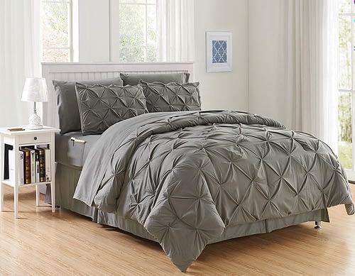 Elegant Comfort Luxury 8-Piece Bed-in-a-Bag Comforter Set